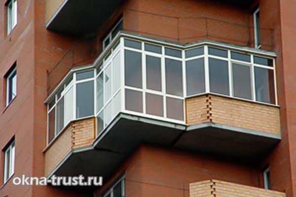 Теплый алюминиевый профиль для балконов.